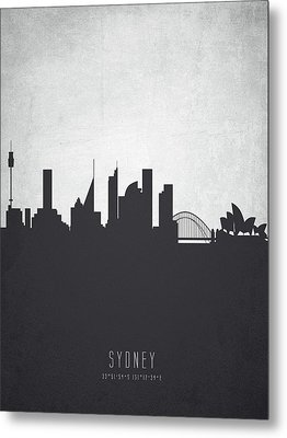Sydney Australia Cityscape 19 Metal Print by Aged Pixel