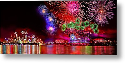 Sydney Celebrates Metal Print by Az Jackson