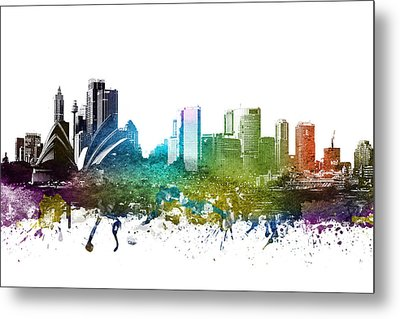 Sydney Cityscape 01 Metal Print by Aged Pixel