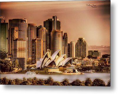Metal Print featuring the photograph Sydney Cityscape by Wallaroo Images