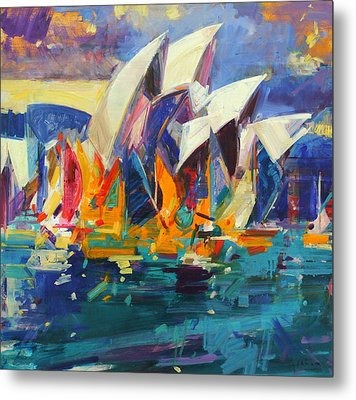 Sydney Flying Colours Metal Print by Peter Graham