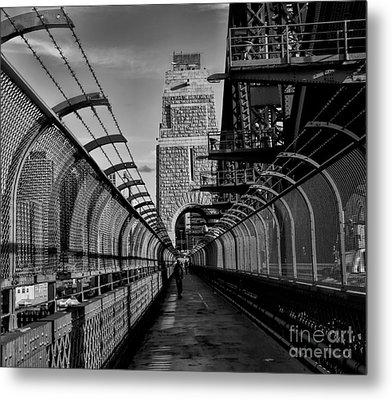Sydney Harbor Bridge Bw Metal Print