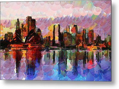 Sydney Here I Come Metal Print by Sir Josef - Social Critic -  Maha Art