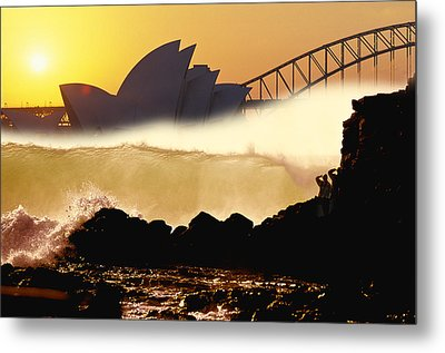 Sydney Surf Metal Print by Sean Davey