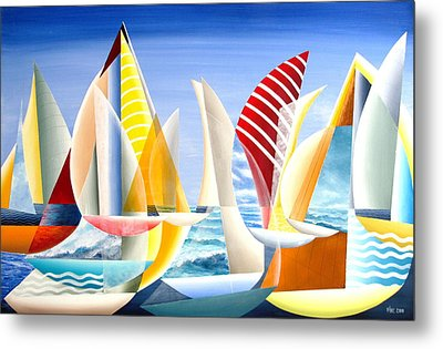 Metal Print featuring the painting Sydney To Hobart Race by Douglas Pike