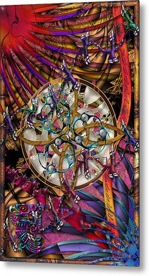 Symagery 28 Metal Print by Kenneth Armand Johnson