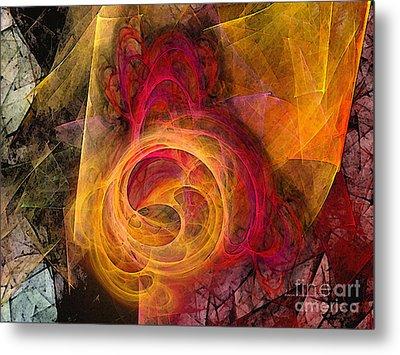 Symbiosis Abstract Art Metal Print