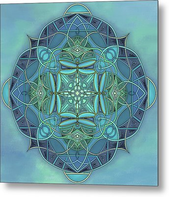 Symmetrical #12 Metal Print by Marion Sipe