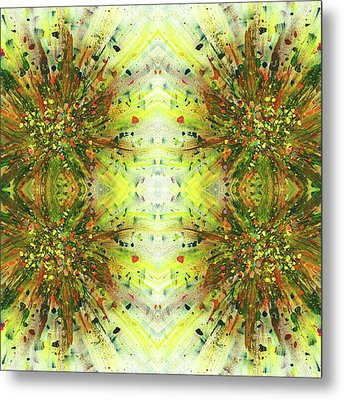 Symmetrical Reflections Of The Sound Waves #1389 Metal Print