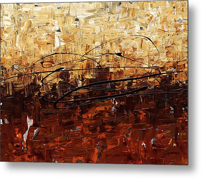 Metal Print featuring the painting Symphony by Carmen Guedez