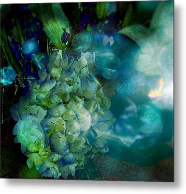 Symphony In Blue Metal Print by Colleen Taylor
