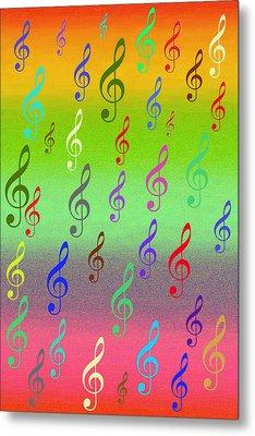 Metal Print featuring the digital art Symphony Of Colors by Angel Jesus De la Fuente