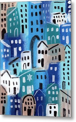 Synagogue- City Stories Metal Print by Linda Woods