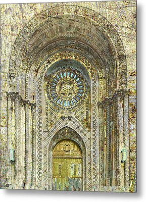 Metal Print featuring the mixed media Synagogue by Tony Rubino