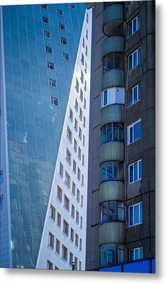 Synergy Between Old And New Apartments Metal Print by John Williams