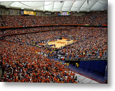 Syracuse Orange Carrier Dome Metal Print by Replay Photos