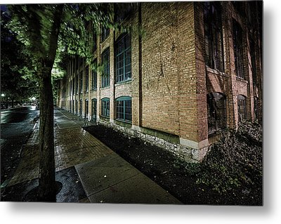 Metal Print featuring the photograph Syracuse Sidewalks by Everet Regal