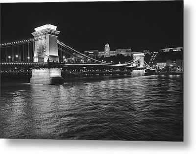 Szechenyi Chain Bridge Budapest Metal Print by Alan Toepfer