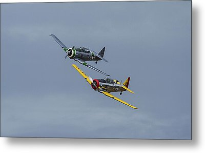 Metal Print featuring the photograph T-6 Trainers by Elvira Butler