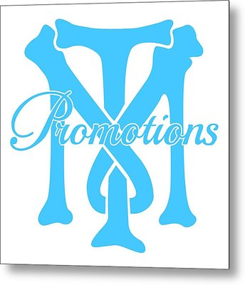 Metal Print featuring the drawing T And M Promotions Logo by Nicholas Grunas
