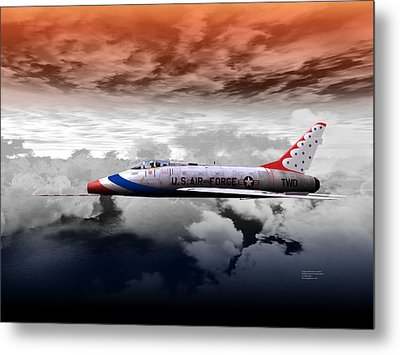 Metal Print featuring the digital art T-bird Two by Mike Ray