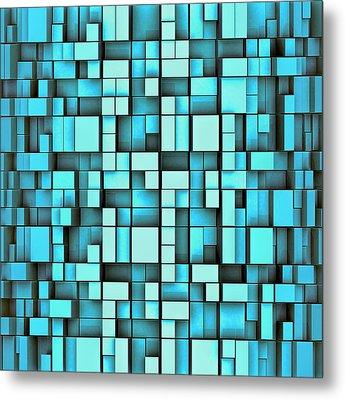 T M F - Tetrismadness Fractallization  Metal Print