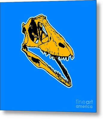 T-rex Graphic Metal Print by Pixel  Chimp