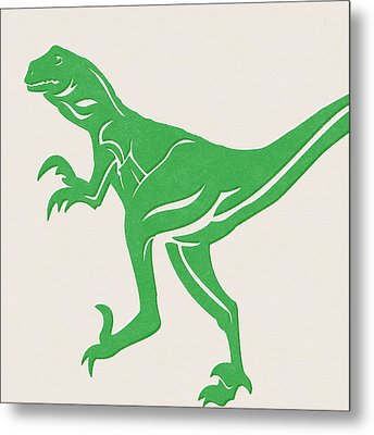 T-rex Metal Print by Linda Woods