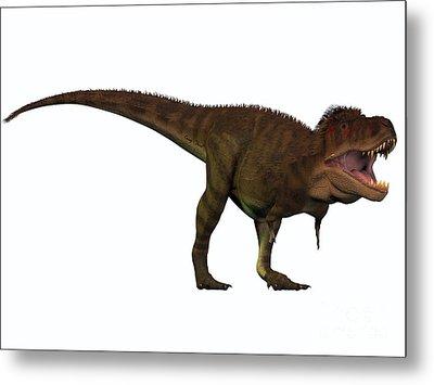 T-rex Titan Metal Print by Corey Ford