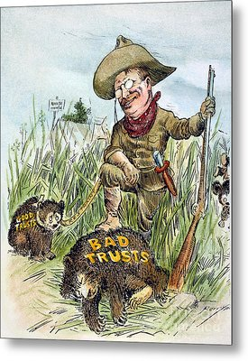 T. Roosevelt Cartoon, 1909 Metal Print by Granger