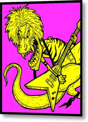 T-rox Metal Print by Christopher Capozzi