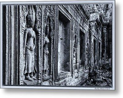 Ta Phrom Cambodia Metal Print by Kathy Adams Clark
