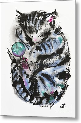Tabby Dreams Metal Print