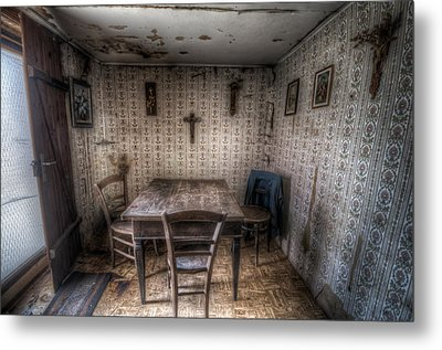 Table And Chairs Metal Print