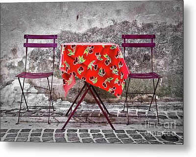 Table For Two Metal Print by Delphimages Photo Creations