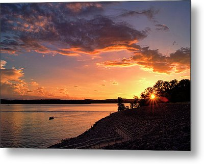 Metal Print featuring the photograph Table Rock Sunset by Cricket Hackmann