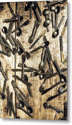 Tableware Abstract Metal Print