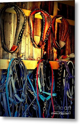 Tack Room Metal Print by Christine Zipps