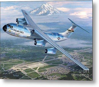 Tacoma Starlifter C-141 Metal Print by Stu Shepherd