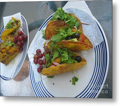 Metal Print featuring the photograph Tacos Almost Mirrored by Marie Neder