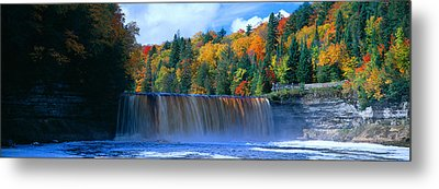 Tahquamenon Fall State Park. Inspired Metal Print by Panoramic Images