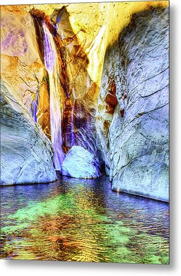 Tahquitz Falls Golden Sunrise Metal Print by Dominic Piperata