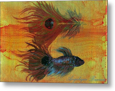 Tail Study Metal Print by Angelique Bowman