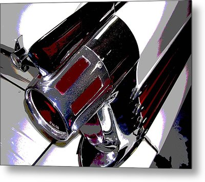 Taillight Metal Print by Audrey Venute