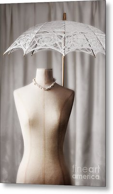 Tailors Dummy With Parasol Metal Print