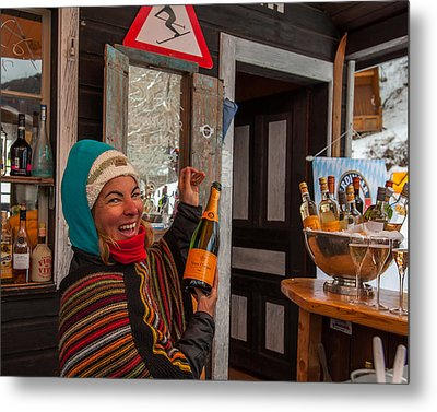 Taimi In Zermatt Switzerland Metal Print by Brenda Jacobs