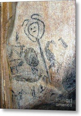 Taino Spirit Of The Sun - Prehistoric Caribbean Taino Indian Cave Painting Metal Print by Ramon A Chalas-Soto