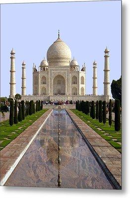 The Taj Mahal - Grand Canyon Mash-up Metal Print