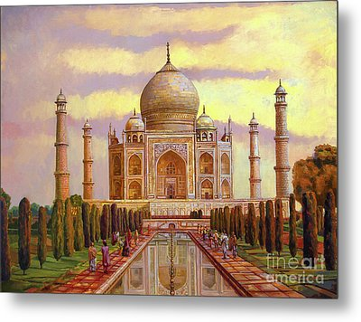 Taj Mahal Metal Print by Dominique Amendola