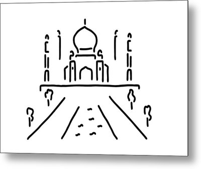 taj mahal India agra Metal Print by Lineamentum